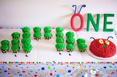 hungry caterpillar birthday, baby shower ideas, wood letters, birthday parties, birthday cupcakes, 1st birthday, cupcake cakes, hungri caterpillar, baby showers