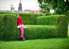 Can someone grow me a grass sofa for my lawn?