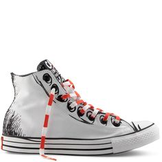 Chuck Taylor Dr Seuss white/black/orange