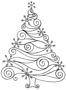 Design Idea christmas cards, embroidery patterns, holiday cards, swirl, christmas embroidery, christma tree, tree designs, doodl, christmas trees