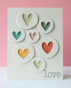 card idea, circl heart, 52 card, valentine cards, paper scraps, paper crafts, cricut anniversary cards, cards by cricut, heart cards