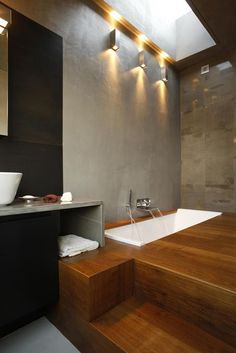 Timber bathroom minimalist