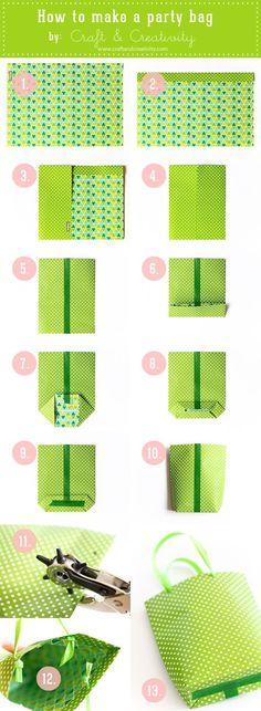 DIY Party bags #Crafts #DIY