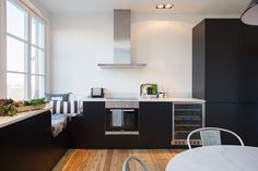 a black kitchen black kitchens