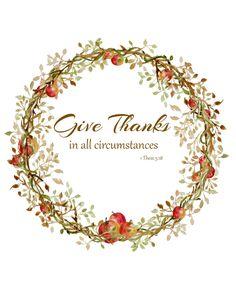 Free Give Thanks printable #fall#printable#Thanksgiving