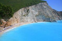 destinations, beaches, globes, porto katsiki, beauti, lefkada island, place, blues, planet earth