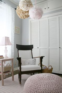 Sweet, soft baby girl nursery