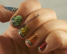 Technicolor Nail Art: Challenge Your Nail Art: Butterflies