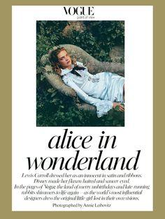 Alice in Wonderland by Annie Leibovitz for Vogue