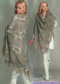 Capes and Shawls - Long fringed cape