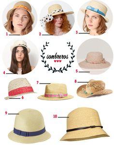 Sombreros bonitistas del Blog bonitismos ¿cuál llevaríais en verano? :)