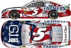 Kasey Kahne's No. 5 Farmer's Insurance/G.I. Jobs Chevy SS