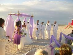 Lavender Beach Wedding in Florida