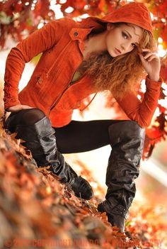 Love this fall fashion look- Photoshoot idea #redheads