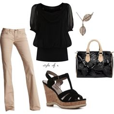 Black Tunic and Wedges :)