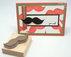Stampin' Up! - Undefined Moustache with stamp