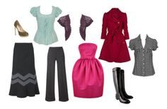 clothes for a pear shape body, i want a red coat