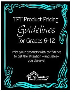 {FREE} TPT Pricing Guide for Middle and High School Sellers