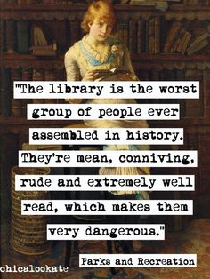 Parks and Recreation Library is the Worst Quote by chicalookate, $10.00 #library