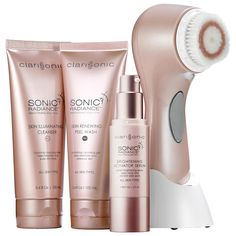 Clarisonic Sonic Radiance™ Brightening Solution Kit - a two-step, morning and evening regimen to gently and effectively treat and control dark spots and uneven skintone for a more radiant and youthful-looking complexion.  #Sephora #skincare