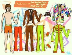 doll heaven, paperdol sterren, paper dollstoy, doll star, art, paper babi, papers, lennon paper, john lennon