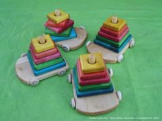Wooden blocks stacked rainbow - The ''LifeSaFer'' on Etsy
