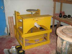 Making a pottery kick wheel