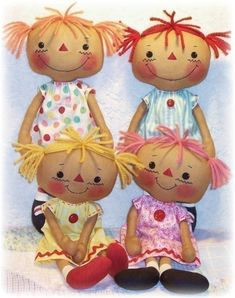 free doll patterns to sew | ... doll pattern rag doll pattern to sew cute skinny 14 inch cloth dolls
