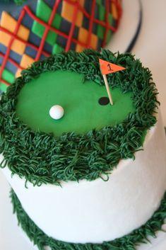 golf cake for Master's Week