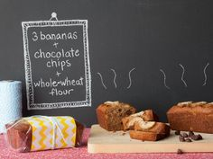 Mini Banana Breads with Chocolate Chips #RecipeOfTheDay