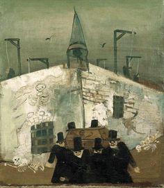 """James Ensor? Probably not Nussbaum """"Gallows"""" (1930) by Felix Nussbaum classicavantgard inspir, holocaust art, felix nussbaum"""