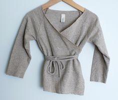 sweatshirt refashion. raw edges
