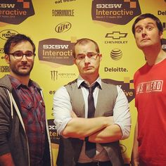 That's Cody, DOB, and Swaim at #SXSW, where they were the special entertainment for the Interactive Awards in downtown Austin.
