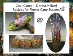 TUTORIAL LAMPWORK Flower Cane RECIPES Laminated by DonnaMillard, $25.00