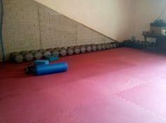 DIY home gym using Eco Soft tiles