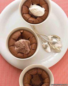 Warm Chocolate Puddings Recipe