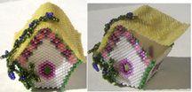 MINIATURE BIRD HOUSE TRINKET BOX by Suzanne Cooper