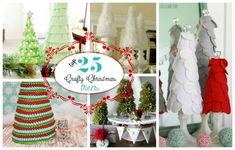 """Top 25 Crafty Christmas Trees of 2012 from """"Lolly Jane"""""""