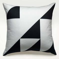 Geometry Square Pillow Lg Black, $48, now featured on Fab.