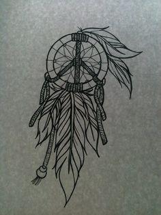 tattoo ideas, peace tattoo, dream catchers, dream catcher tattoo, dreamcatch tattoo