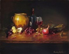 Tuscan Feast by Christine Hooker Oil ~ 16 x 20