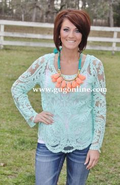 Lovers Forever Mint Top www.gugonline.com $34.95