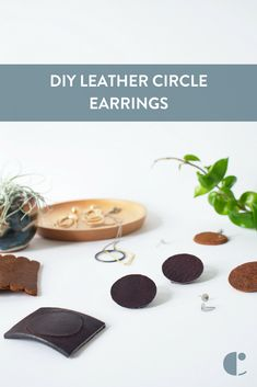 These DIY leather circle earrings are so stylish, you would never guess they were made out of thrift store belts! Check out how easy it is to make your own.