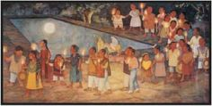 Mommy Maestra: Diego Rivera's painting - Niños pidiendo posada