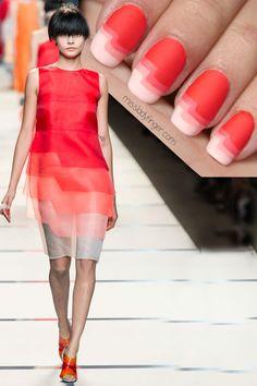 Fendi Spring '14 #nail #nails #nailart #nail #nailart #woman #moda #cute #love