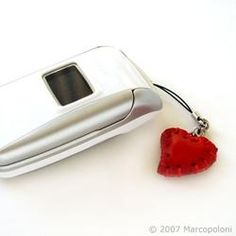 CUORE - Heart Italian Leather Cell Phone Charm