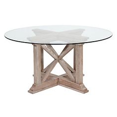 Rencourt Round Dining Table - White Wash | Z Gallerie