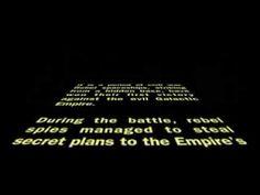 Star Wars original opening crawl - 1977