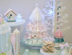 Candy floss topped Christmas tree candy jar