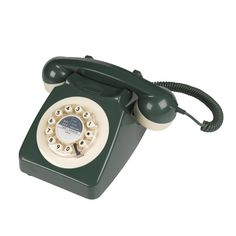 Call back in time with this green Retro Telephone. Based on a famous design from the 1960s, this telephone is fully functional and features an extra long lead so you can carry it around your room while you talk.